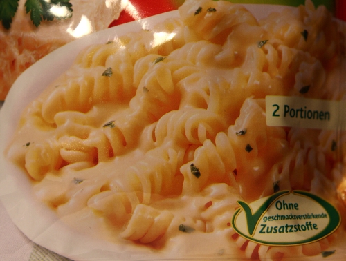 Knorr Spaghetteria Pasta alla Parmesana Fusilli in Käse Sauce Verpackung Packaging Detail
