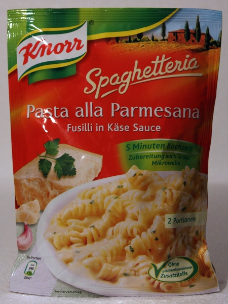 Knorr Spaghetteria Pasta alla Parmesana Fusilli in Käse Sauce Verpackung Packaging