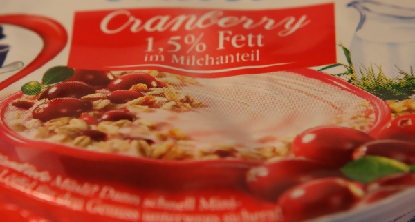 Landliebe Müsli Cranberry Verpackung Detail Packaging Detail