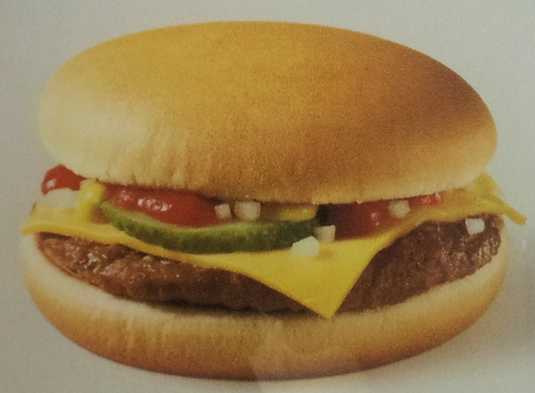McDonalds Cheeseburger Werbung Advertisement