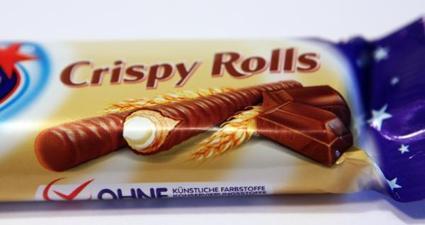 Milky Way Crispy Rolls Verpackung Detail
