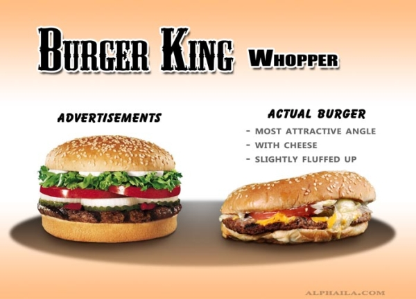 Burger King Whopper Third Comparison