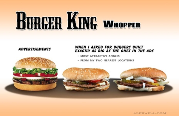 Burger King Whopper Second Comparison
