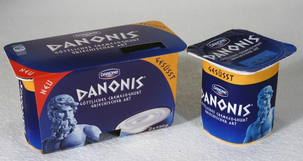 Danone Danonis Joghurt Becher Packung Packaging