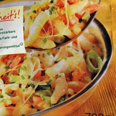Iglo Geniesser Pfanne Käs Spätzle Verpackung Packaging Detail