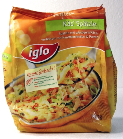 Iglo Geniesser Pfanne Käs Spätzle Verpackung Packaging