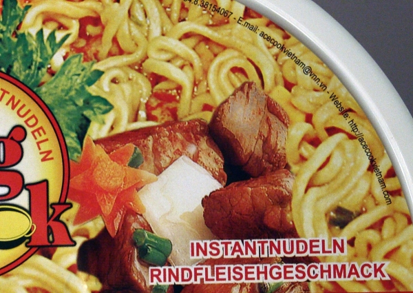 King Cook Instantnudeln Instantnoodles Rindfleischgeschmack Verpackung Packaging Detail