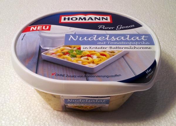Homann Nudelsalat Verpackung