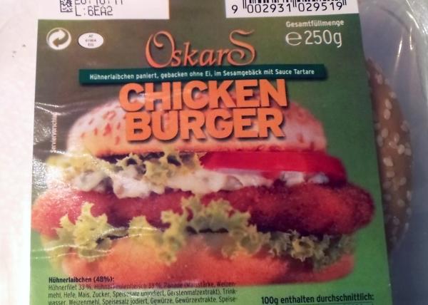 Oskars Chickenburger Verpackung Detail