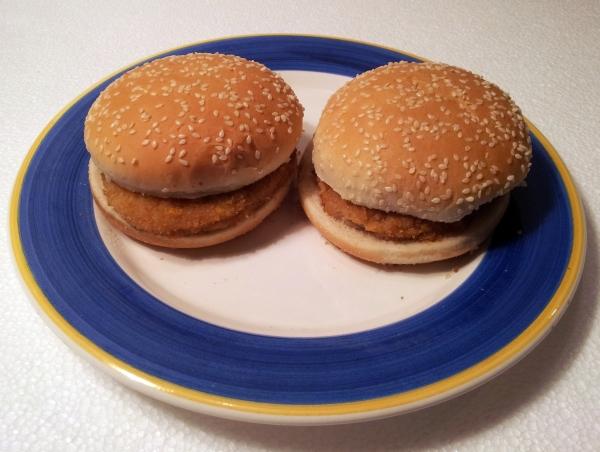 Oskars Chickenburger wirkliches Aussehen
