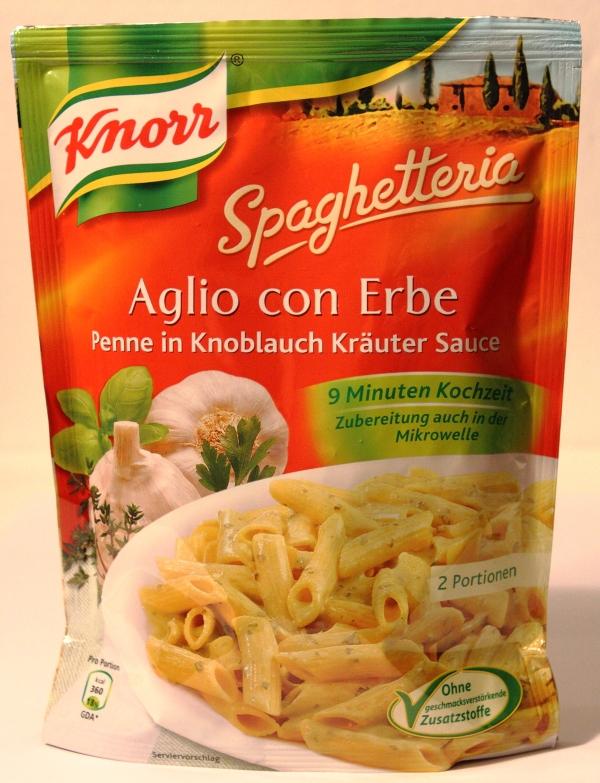 Knorr Spaghetteria Aglio con Erbe Verpackung