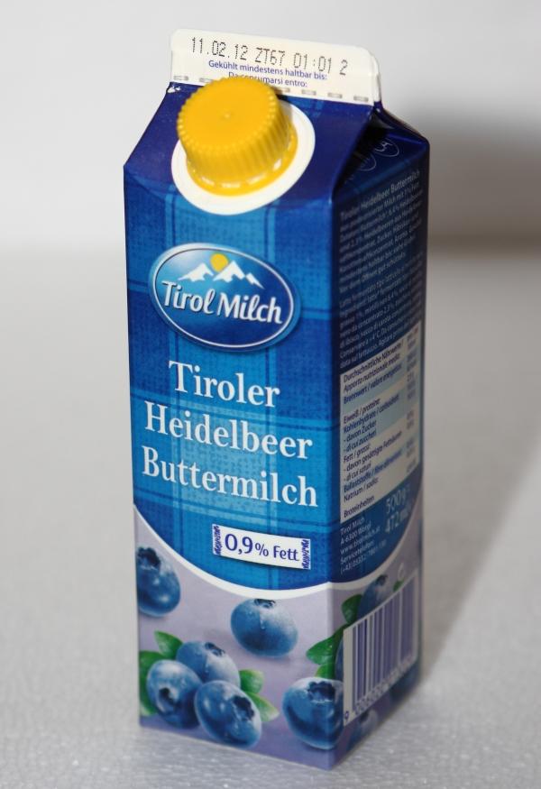 Tirol Milch Heidelbeer Buttermilch Verpackung