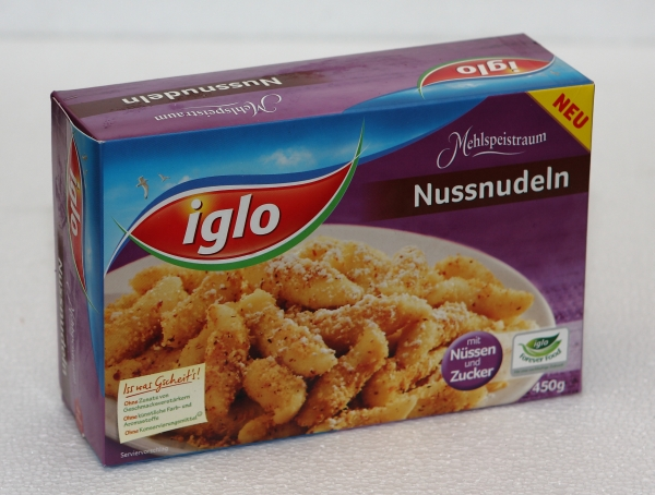 Iglo Nussnudeln Packung
