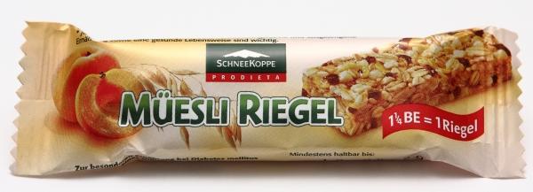 Schneekoppe Müesli Müsli Riegel Verpackung