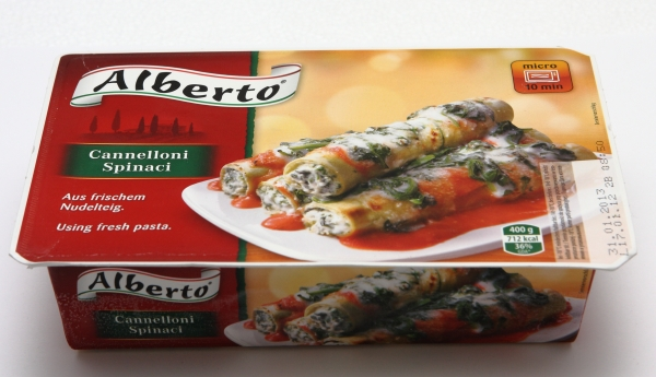 Alberto Cannelloni Spinaci Verpackung