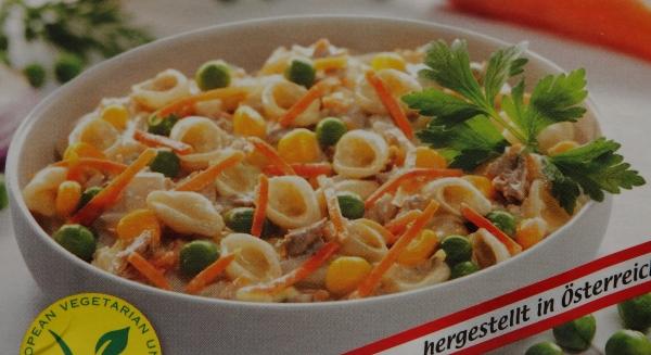 spar veggie bio nudel gemüse salat verpackung detail