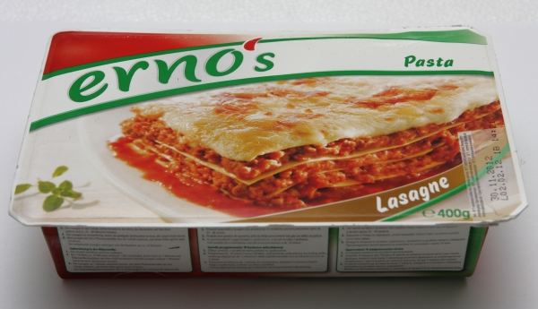 ernos pasta lasagne packung verpackung