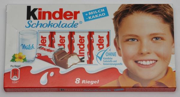 kinder schokolade chocolate packung verpackung