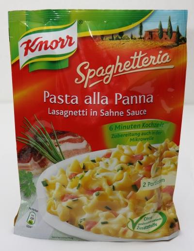 knorr spaghetteria lasagnetti sahnesauce verpackung aussehen
