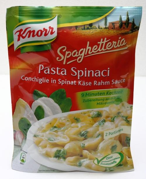 knorr spaghetteria verpackung aussehen tüte