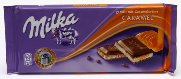milka karamel caramel packung aussehen