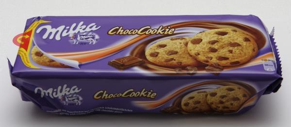 milka schoko choco cookie verpackung