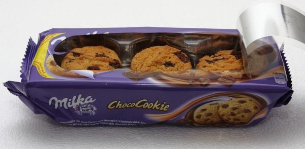 milka choco cookies wiederverschliessbare packung neu