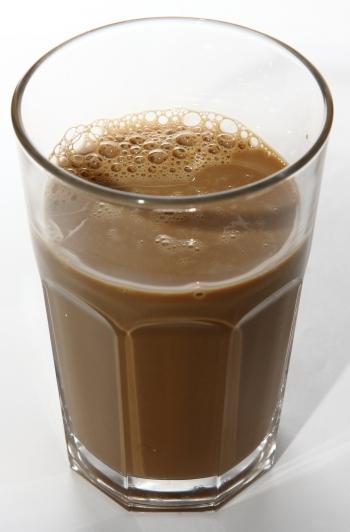 spar sbudget cappuccino aussehen im glas echt real
