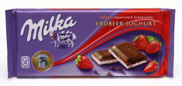 milka strawberry yogurt chocolate packaging verpackungs bilder