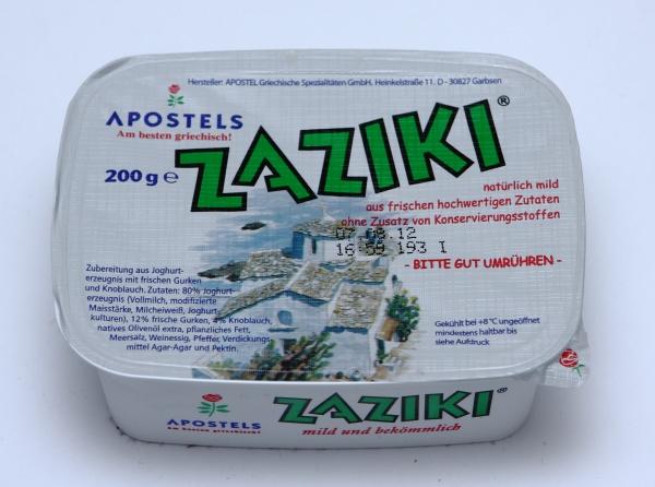griechisches tsatsiki tzaziki bilder verpackung fotos