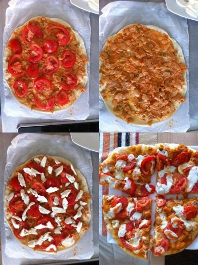 focaccia backen ofen backrohr bilder anleitung tomaten