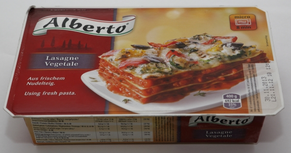 alberto gemüse lasagne bilder fotos beispiel rezept