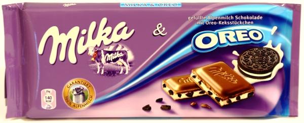 milka oreo tafel echte verpackung aussehen werbung fotos