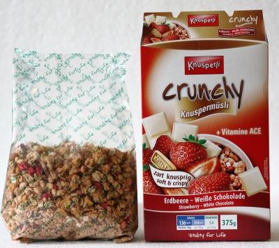 müsli inhalt vergleich verpackung inhalt erdbeere schokolade frühstück