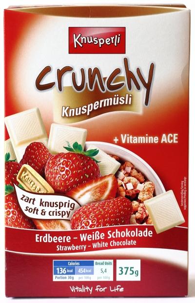 knusperli erdbeer schoko müsli werbung fernsehen verpackung karton