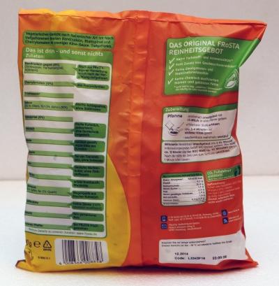 frosta nudeln pappardelle creme spinaci rückseite inhaltsstoffe