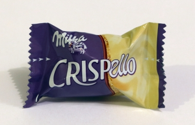 Milka Crispello Verpackung einzeln verpackte Schokolade Stücke