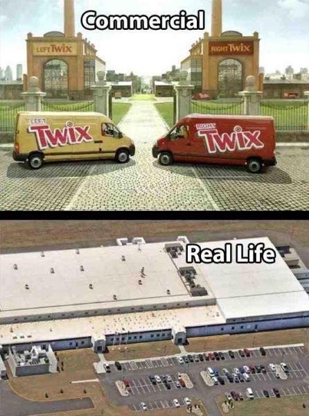 twix fabriken bilder twix raider schokolade bilder werbung realität