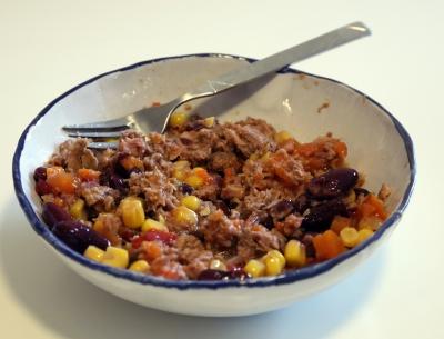 Almare Thunfisch Bohnen Mais Rezept mit Bohnen Werbung Realität