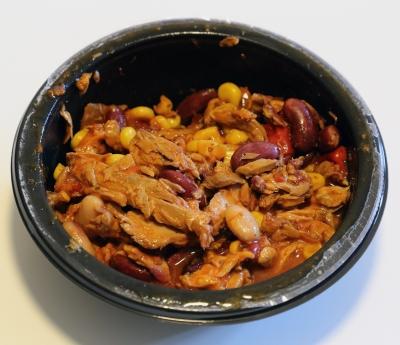 Vier Diamanten Thunfisch Salatsnack Mexikanisch Inhalt echter Thunfisch