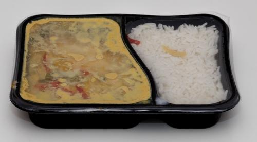 Hofer Gelbes Gemüsecurry mit Basmatireis Bilder Aussehen Realität