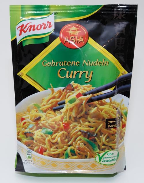 Knorr Asia Gebratene Nudeln Curry Bilder Werbung Realität Echtes Aussehen