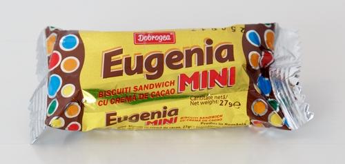 Eugenia Mini Schokoriegel Biskuit Kakao Bilder aus Rumänien