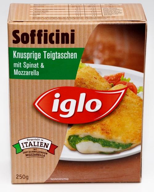 Iglo Sofficini Teigtaschen mit Spinat und Mozzarella Bilder