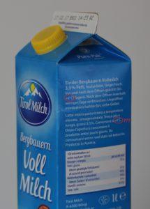 Tirol Milch Bergbauern Vollmilch